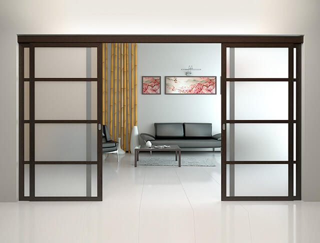 Sliding doors and partitions